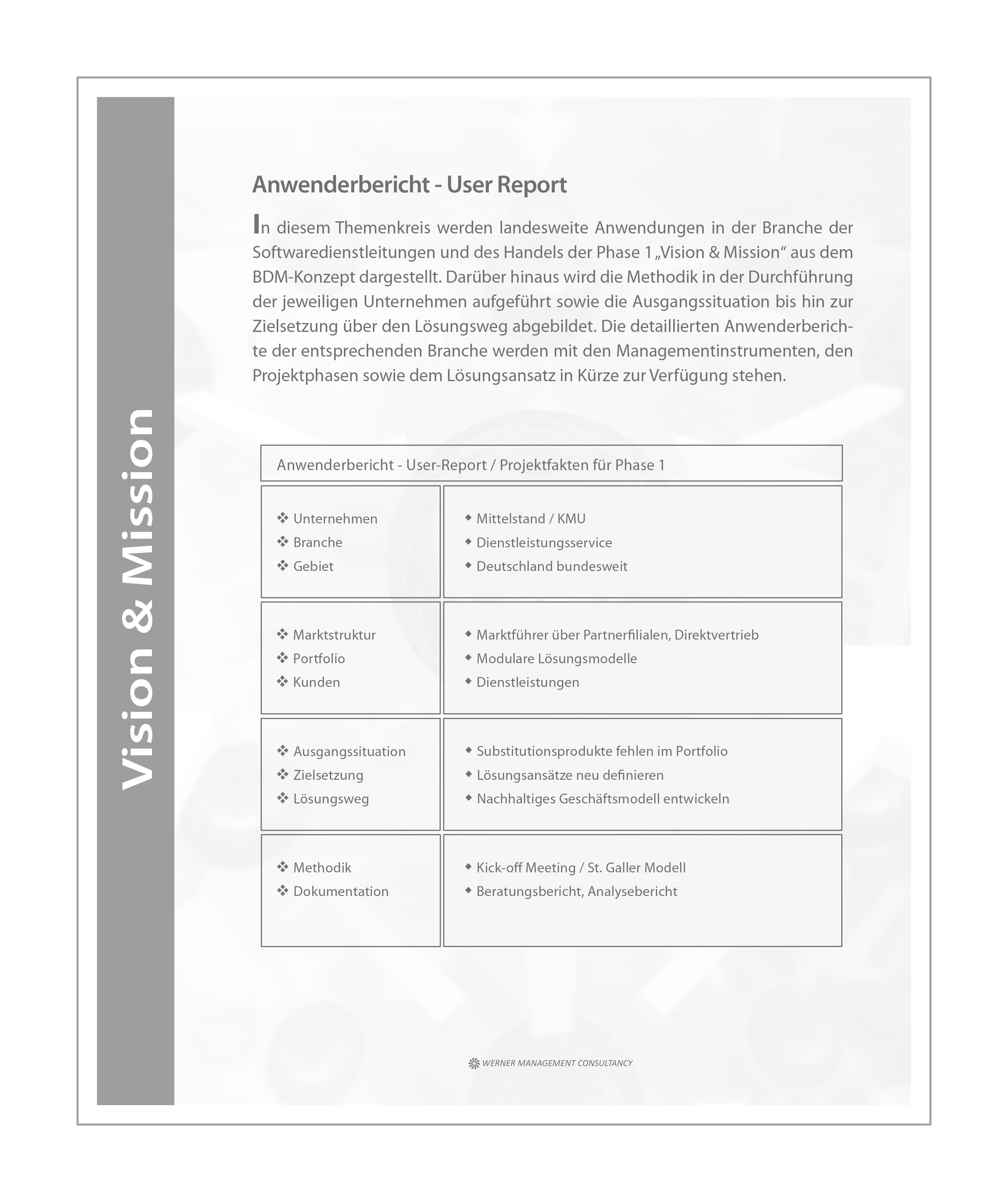 WMC Broschüre Business Development Phase-1 Anwenderbericht